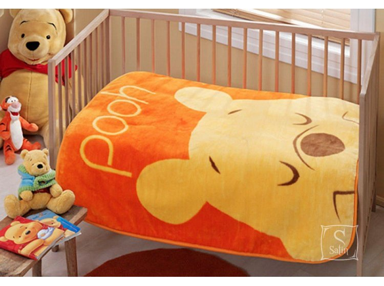 Плед детские TAC. Winnie Pooh Face baby, размер 100х120 см