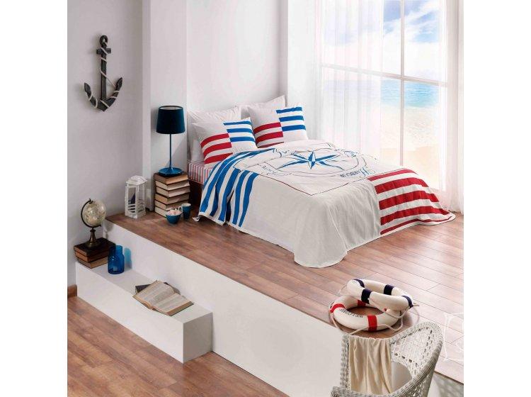 Летнее постельное белье TAC. Marine mavi