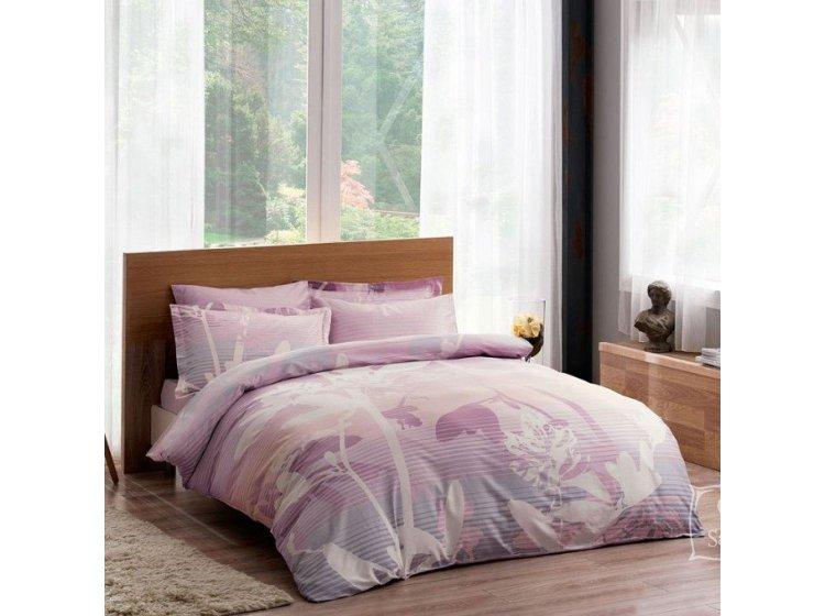 Постельное белье TAC. Deluxe Grisel V01 лилового цвета