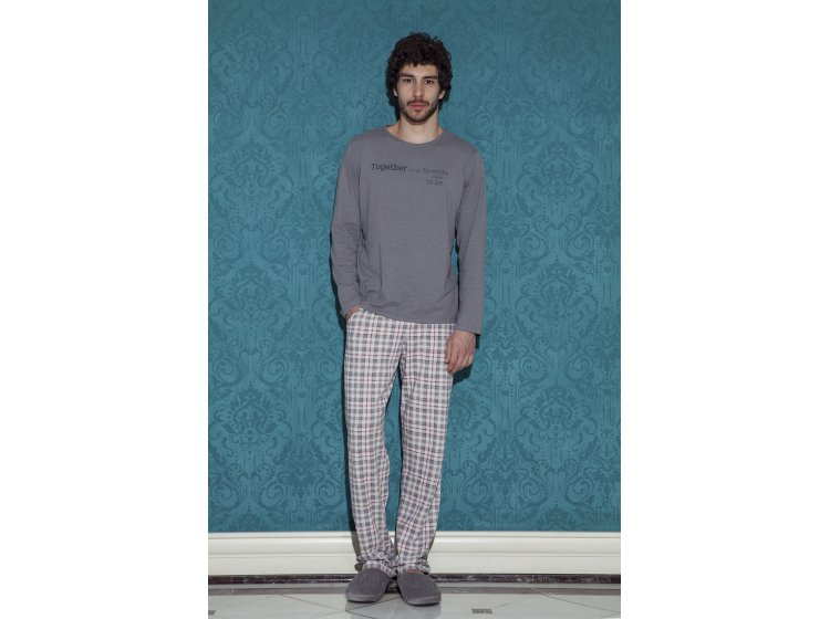 Мужская пижама с брюками Hays. 17452 gri