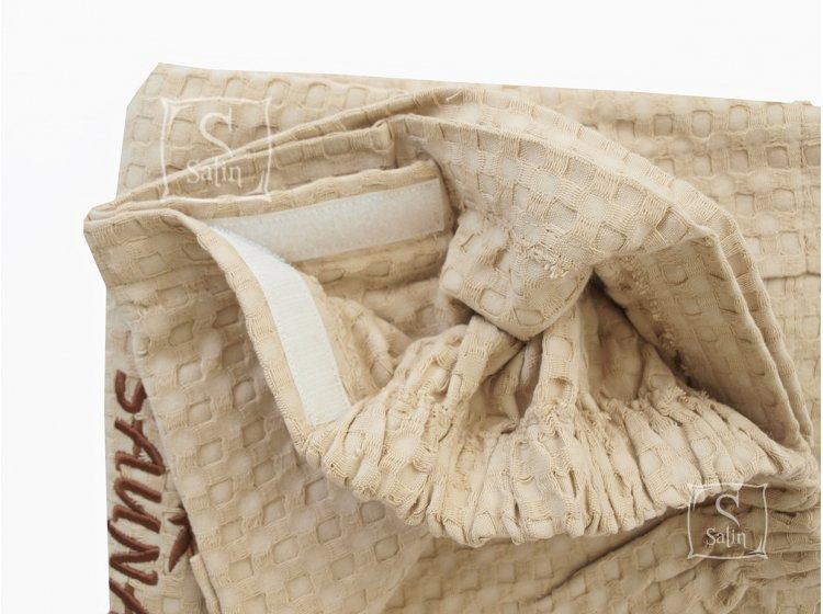 Мужская юбка-килт для сауны Home Line. вафельная, бежевого цвета