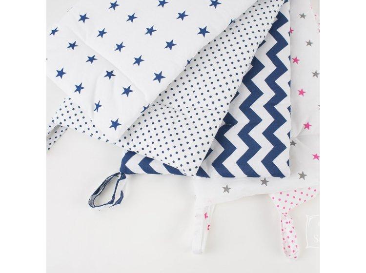 Постельное белье в детскую кроватку Elfdreams. Звёздочки варианты тканей-компаньонов