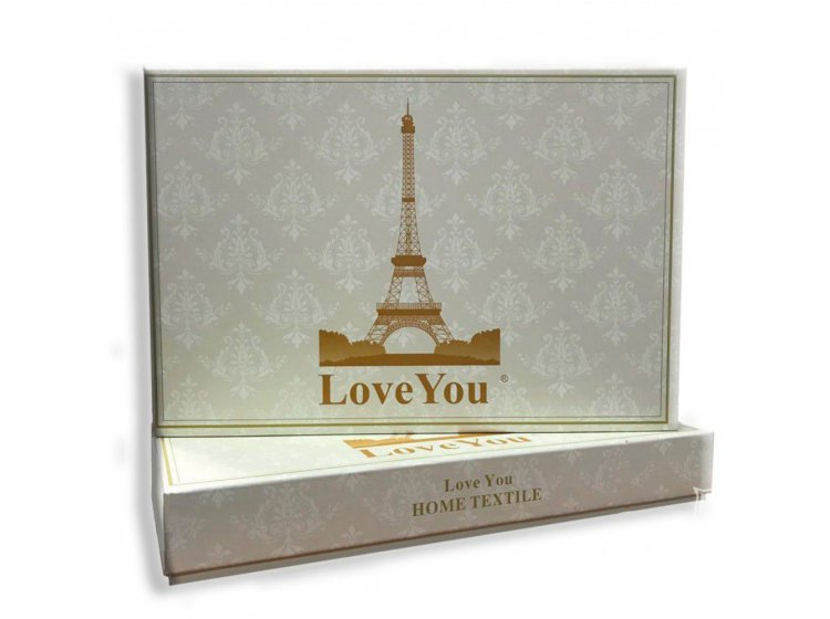 Постельное белье Love you. Сатин-жаккард упаковка