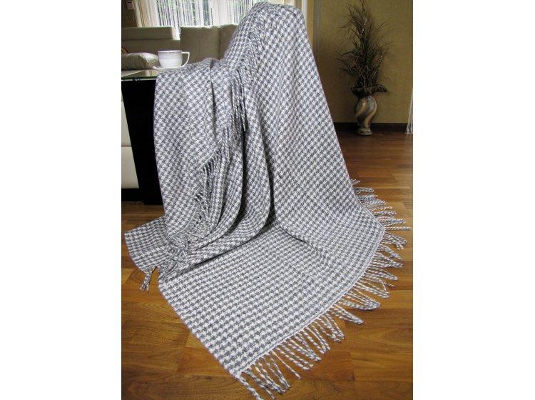 Плед TORINO, 20% шерсть, размер 140х200 см, серого цвета