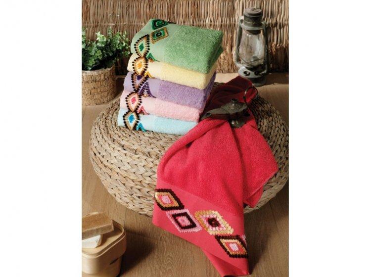 Полотенце махровое Altinbasak. Tendora розового цвета в ассортименте