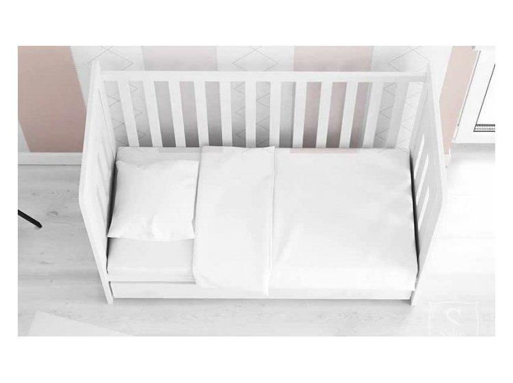 Постельное белье в детскую кроватку Viluta. Ранфорс белый