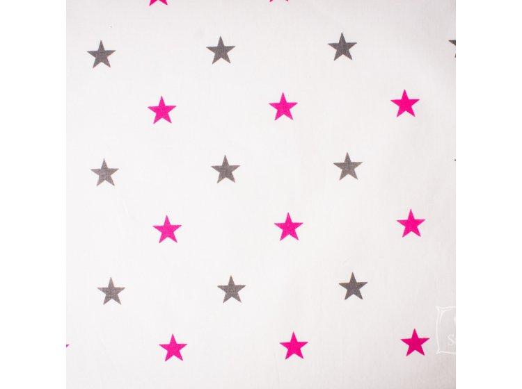 Постельное белье в детскую кроватку Elfdreams. Розовый звездопад образец ткани