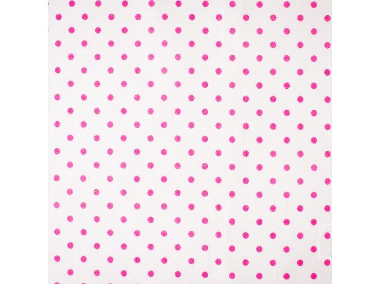 Постельное белье в детскую кроватку Elfdreams. Розовые горошки образец ткани