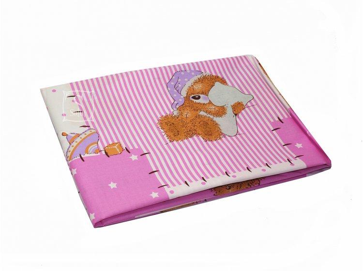 Постельное белье в детскую кроватку Viluta. 3555 розового цвета