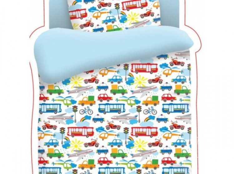 Постельное белье в детскую кроватку Непоседа. Городское движение