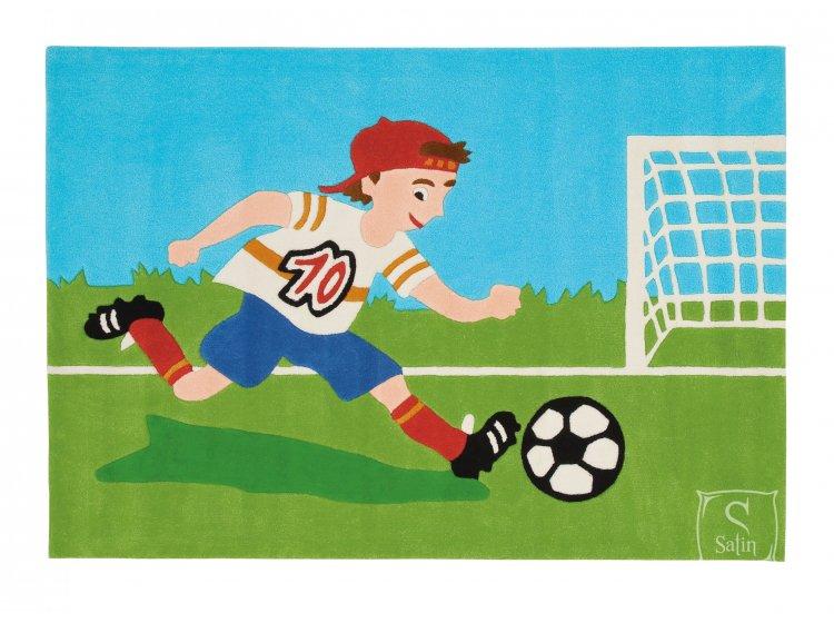Детский коврик Arte-Espina. Joy Soccer зеленого цвета
