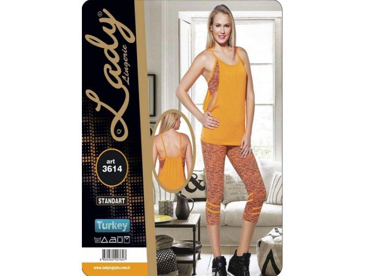 Комплект спортивный женский майка с бриджами Lady Textile. 3614