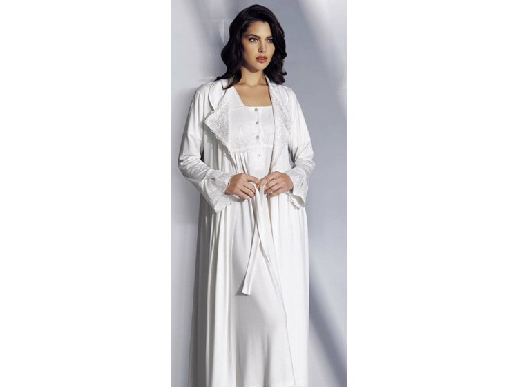 Комплект женский халатик+ночная рубашка Mariposa. 4407