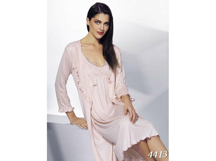 Комплект женский халатик+ночная рубашка Mariposa. 4413