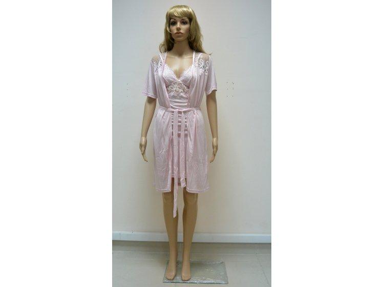 Комплект  пеньюар + халатик Mariposa. Модель 4414 розовый