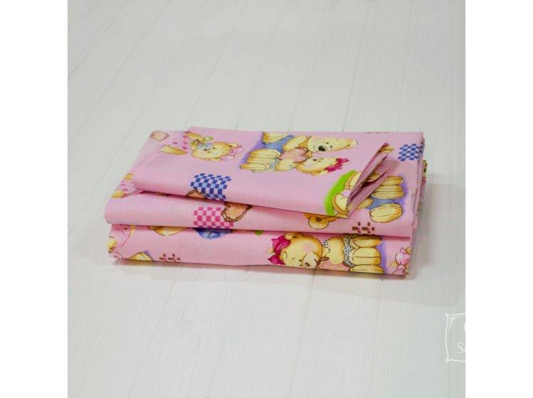 Постельное белье в детскую кроватку Viluta. 4457 розового цвета