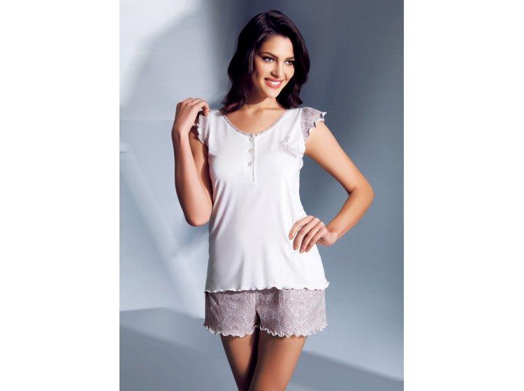 Комплект с шортами Mariposa. Модель 4635 кремовый