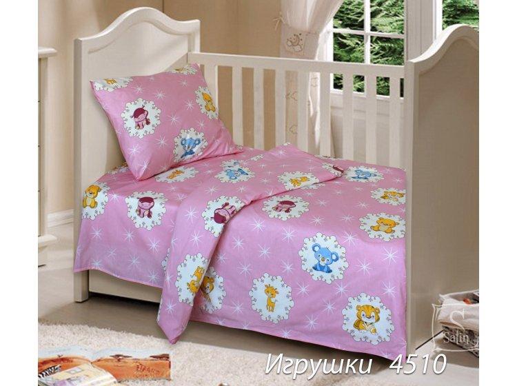 Постельное белье в детскую кроватку Блакит. 4510 Игрушки
