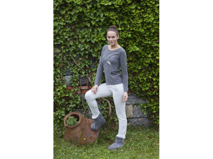 Домашний женский костюм Hays. Mодель 5118 серый