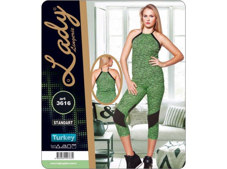 Комплект спортивный женский майка с бриджами Lady Textile. 3616