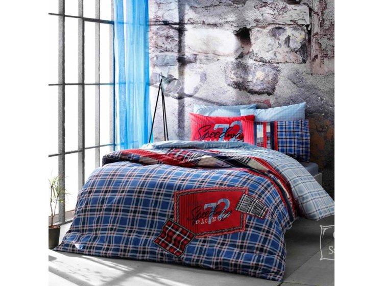 Подростковое постельное белье TAC. Ranforce Route V04 Mavi