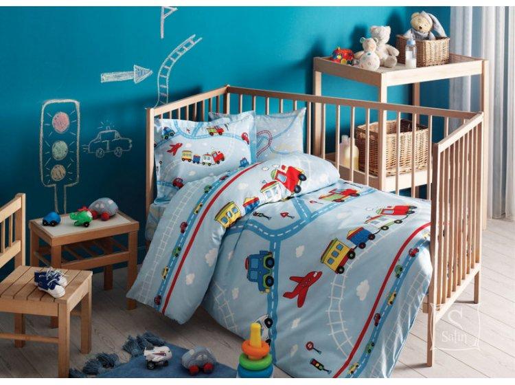 Постельное белье в детскую кроватку TAC. Traffic