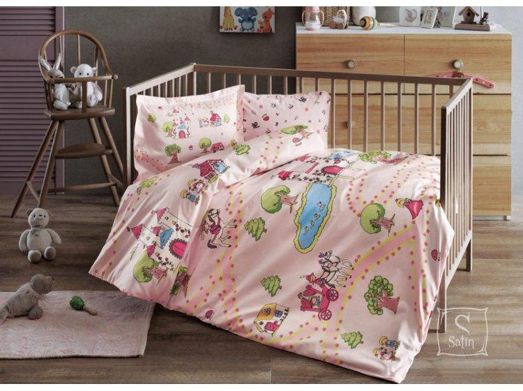 Постельное белье в детскую кроватку TAC. Princess