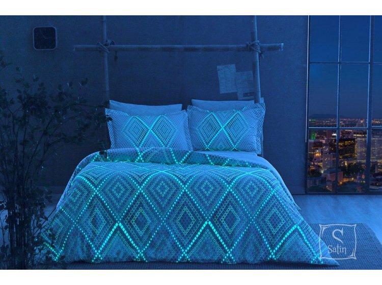 Светящееся постельное белье TAC. Glow Gina V01 MAVI (ночь)