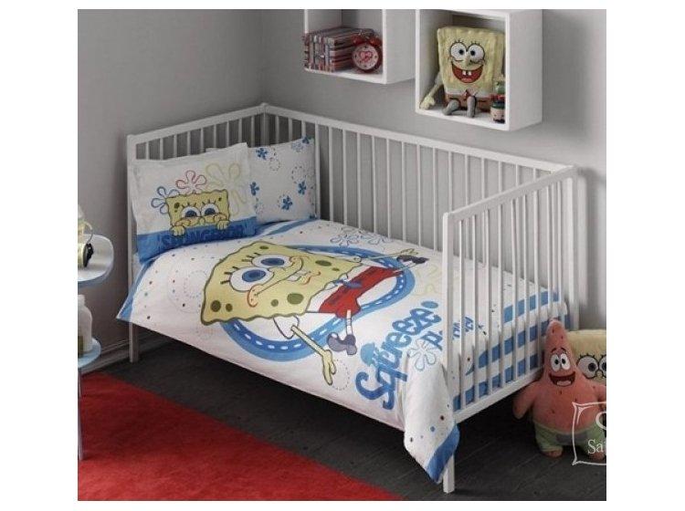 Постельное белье в детскую кроватку TAC. Sponge Bob Baby
