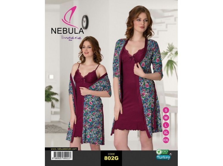 Ночная рубашка и халат Nebula. 802G