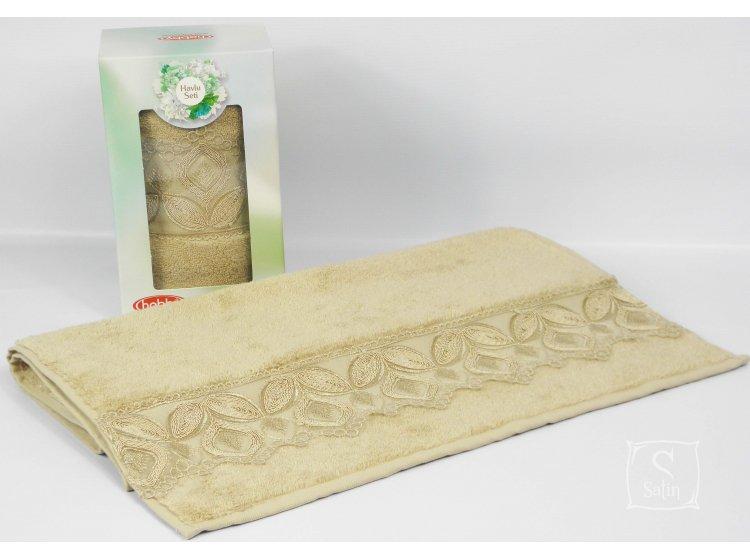 Махровое полотенце Hobby. Sidelya 1, микрокоттон, кофейный, 50х90 см