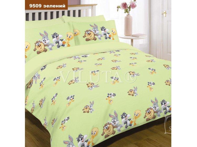 Постельное белье в детскую кроватку Viluta. 9509 зеленый
