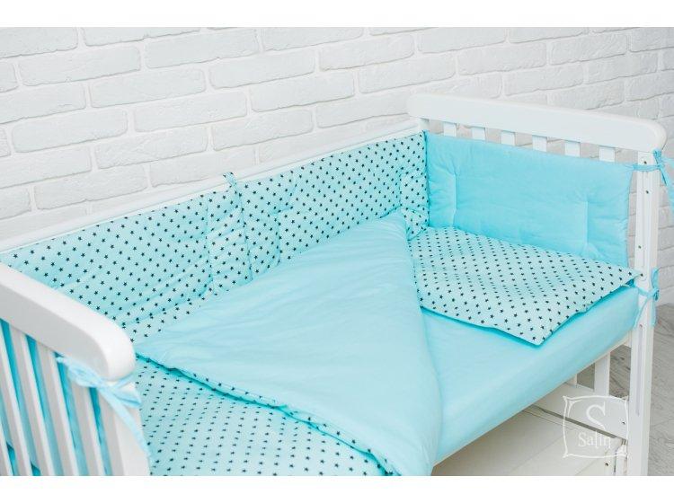 Комплект в детскую кроватку Elfdreams. Звездная бирюза
