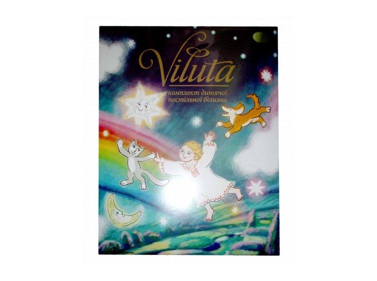 Постельное белье в детскую кроватку Viluta. Ранфорс белый упаковка
