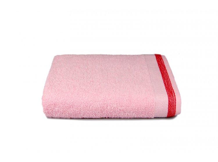 Полотенце махровое Home Line. Лотус розового цвета