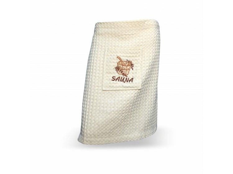 Мужская юбка-килт для сауны Home Line. Вафельная, кремового цвета