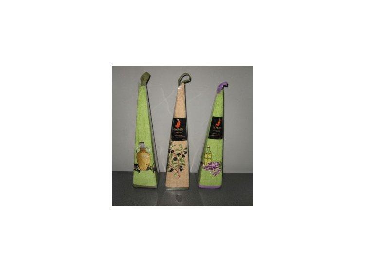 Махровое полотенце Mariposa. Маслины ветка зеленый 004, круглое упаковка
