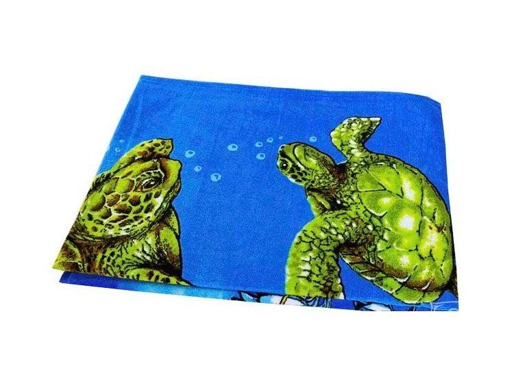 Полотенце пляжное Shamrock. Морские черепахи, размер  75х150