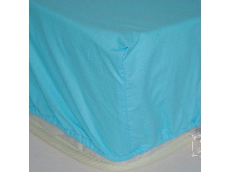 Простынь на резинке SoundSleep. Blue голубая