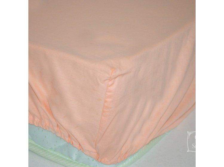 Простынь на резинке SoundSleep. Peach персиковая
