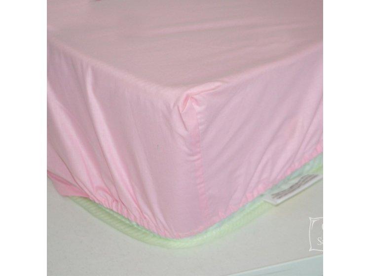 Простынь на резинке SoundSleep. Pink розовая