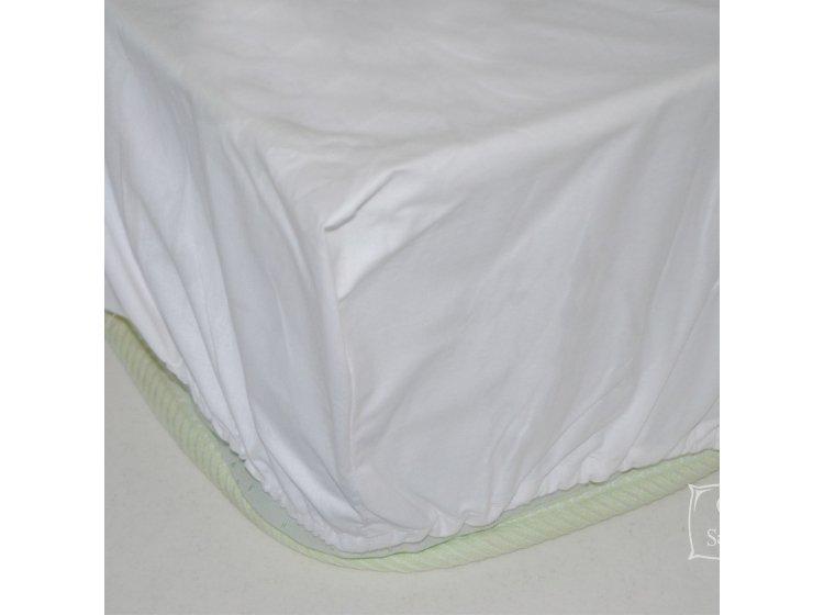 Простынь на резинке SoundSleep. White белая
