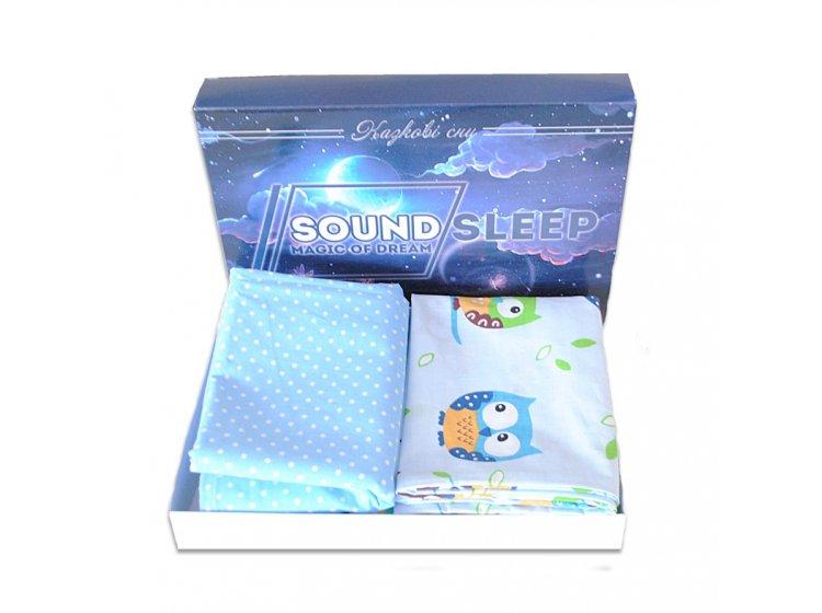 Постельное белье детское SoundSleep. Fantastic owls голубое упаковка