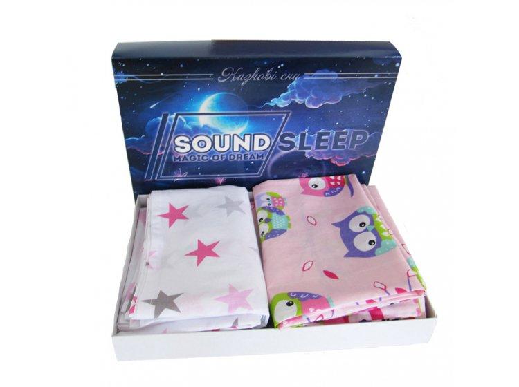 Постельное белье детское SoundSleep. Fantastic owls розовое упаковка