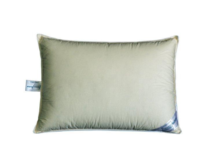 Подушка 90% пуха SoundSleep. Meditation оливковая