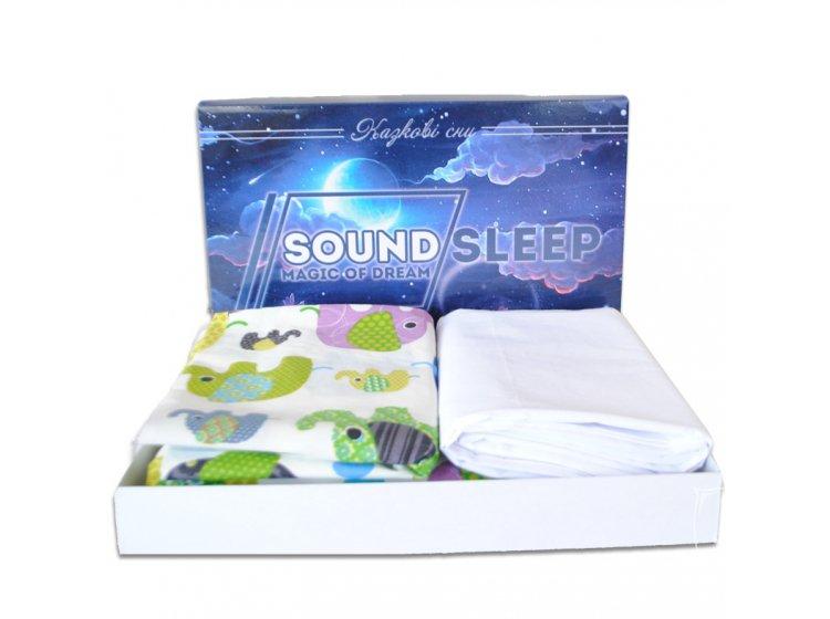 Постельное белье детское SoundSleep. Cartoon elephant упаковка