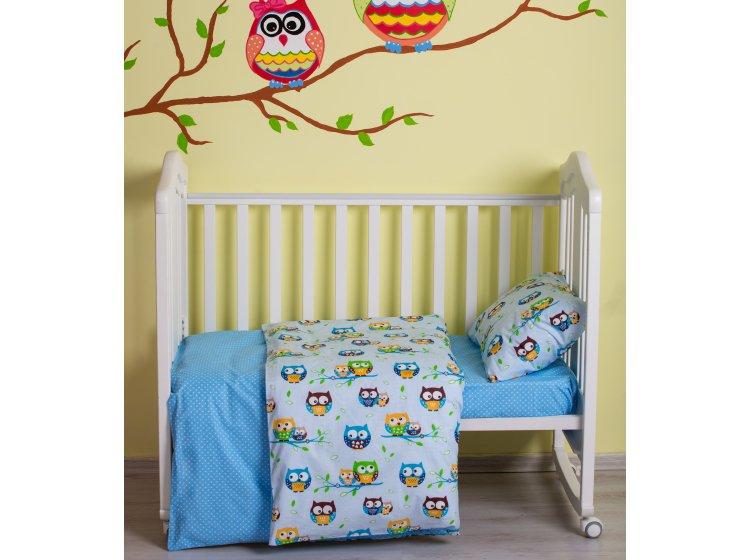 Постельное белье детское SoundSleep. Fantastic owls голубое