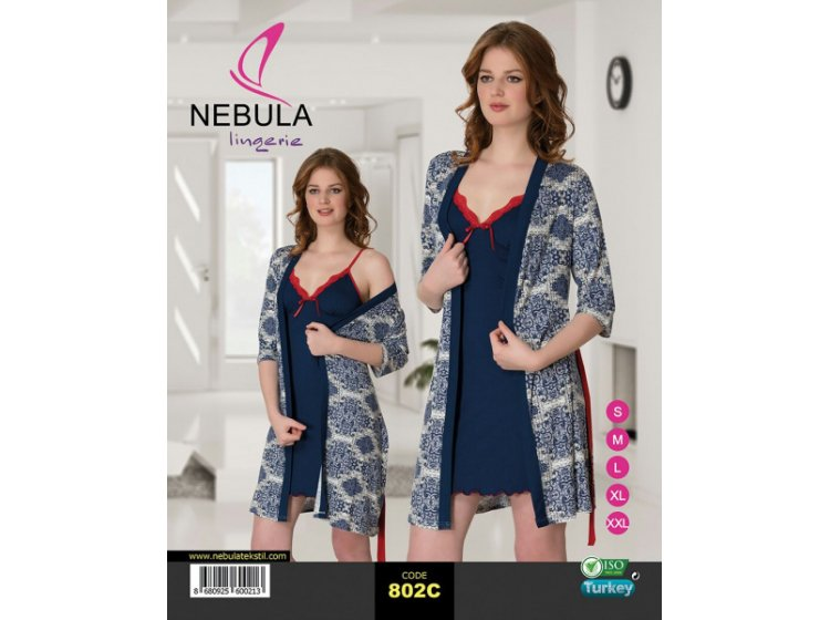 Ночная рубашка и халат Nebula. 802C
