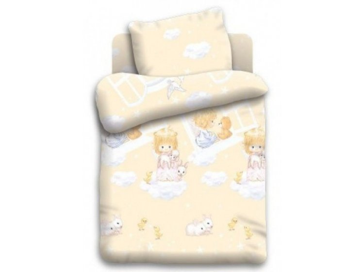 Постельное белье в детскую кроватку Непоседа. Ангелочки