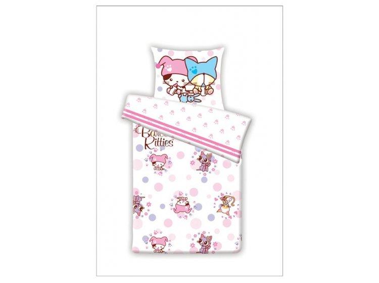 Постельное белье в детскую кроватку LeVele. B.KITTIES FLOWER